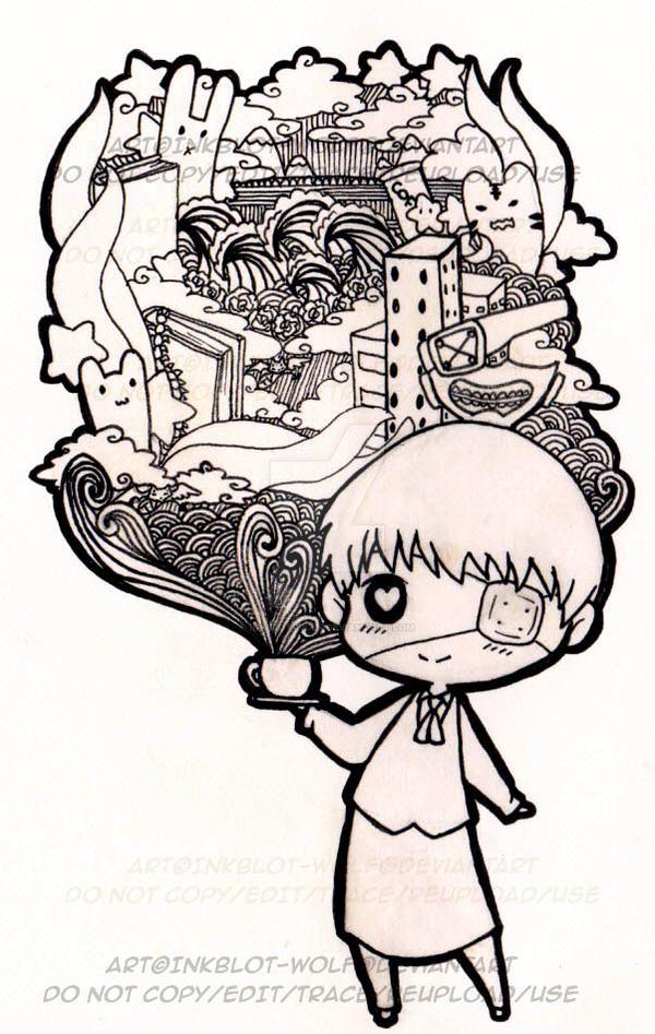 [FA] Kaneki doodle by inkblot-wolf