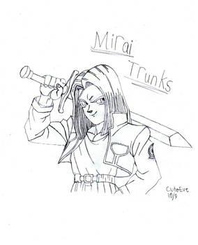 Mirai Trunks Lineart
