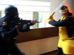 The Monarch V.S. Umbrella Corp by Rubber-Band-Of-Doom