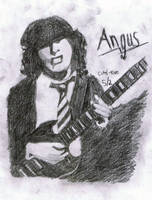 The Live wire - Angus Young by Rubber-Band-Of-Doom