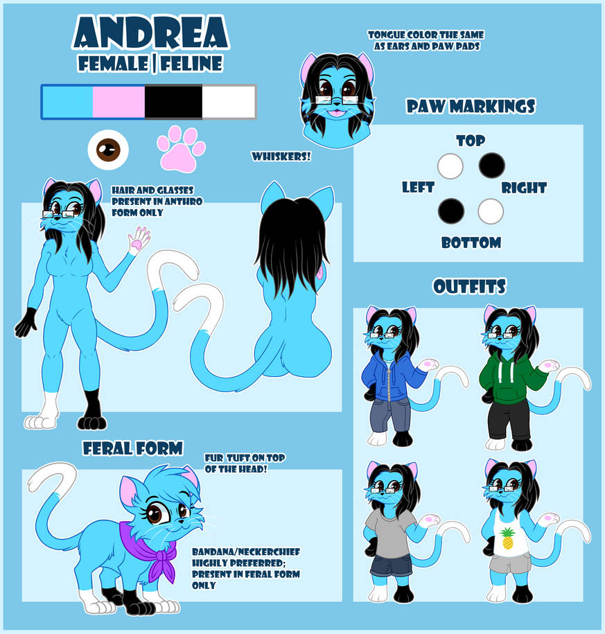 Andrea Reference Sheet