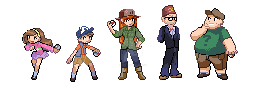 Gravity Falls Pokemon Trainers by cheezyme123