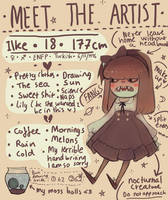 MEET THE ARTIST by sachcell