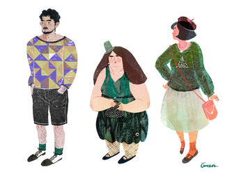 Lifestyles character design by LiskFeng