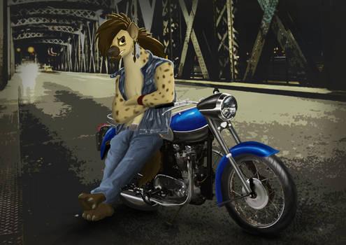 Hyena biker