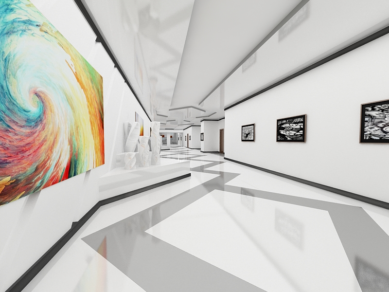 3d max museum interior by dymytryus md on deviantart for 3d max interior design lighting