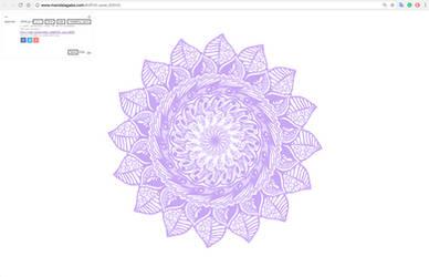 Purple Flower Mandala by mandalagaba