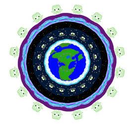 Space Invader Mandala by mandalagaba