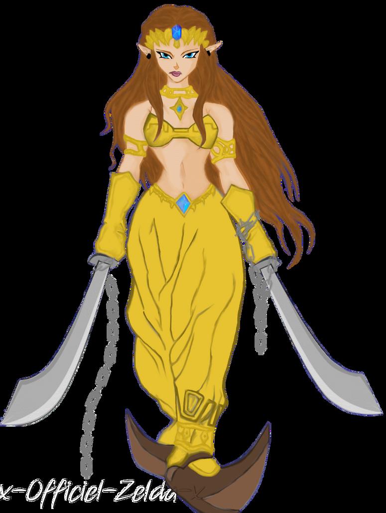 Zelda en costume gerudo by Zelda-Nohasen on DeviantArt