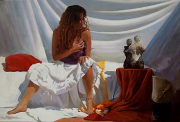 La mujer del pelo rojo by josehiguera