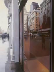 Raining on Gran Via by josehiguera