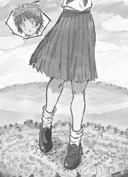 Giantess Uiharu Kazari