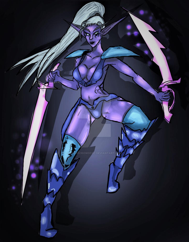 Night Elf Mageblade (1 hour sketch and color) by ScarecrowofQC
