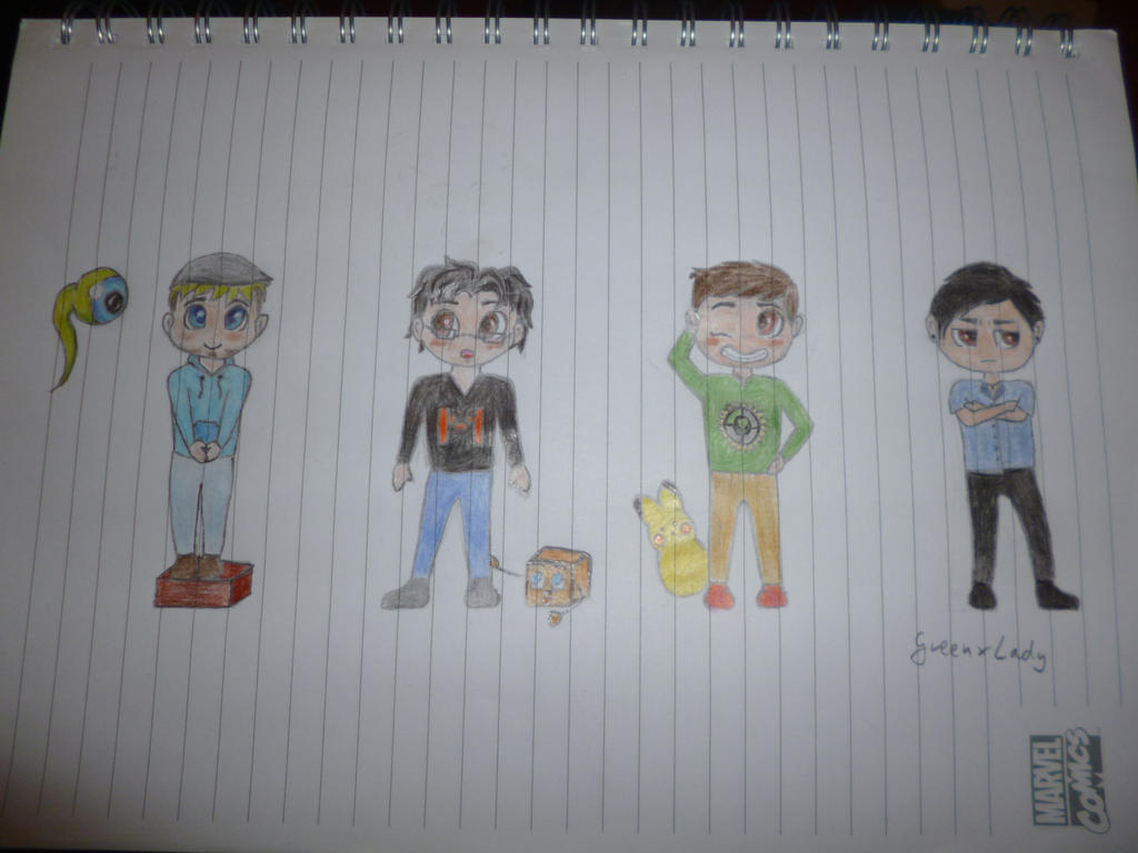 Chibi-Tubers by FrancistheDragon