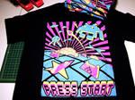 Press Start - Silkscreened Tshirt by BaronVonSauer