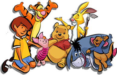 Pooh and Friends by yoblowit19