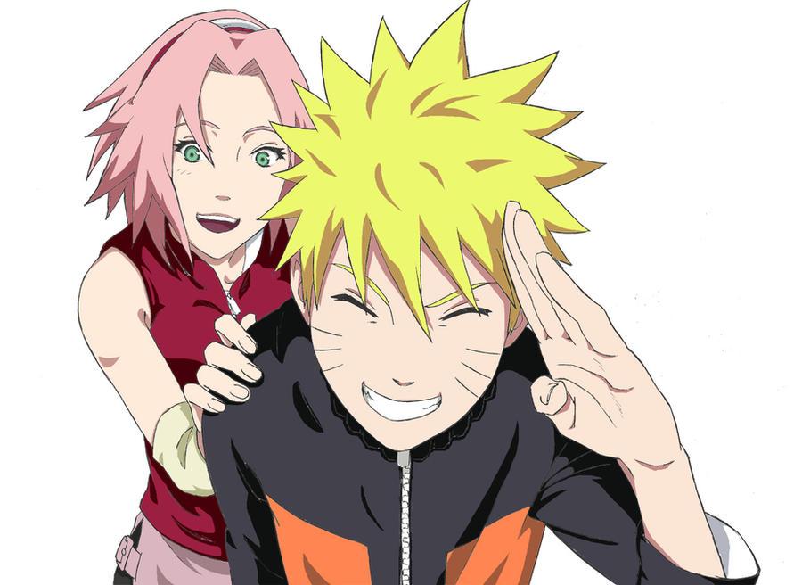 Naruto and Sakura by manzr