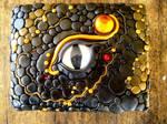Polymer Clay Black Dragon Box