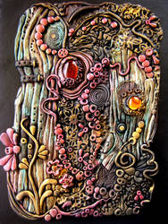 Enchanted Wood Polymer Clay Journal