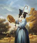 Border Collie as Shepherdess