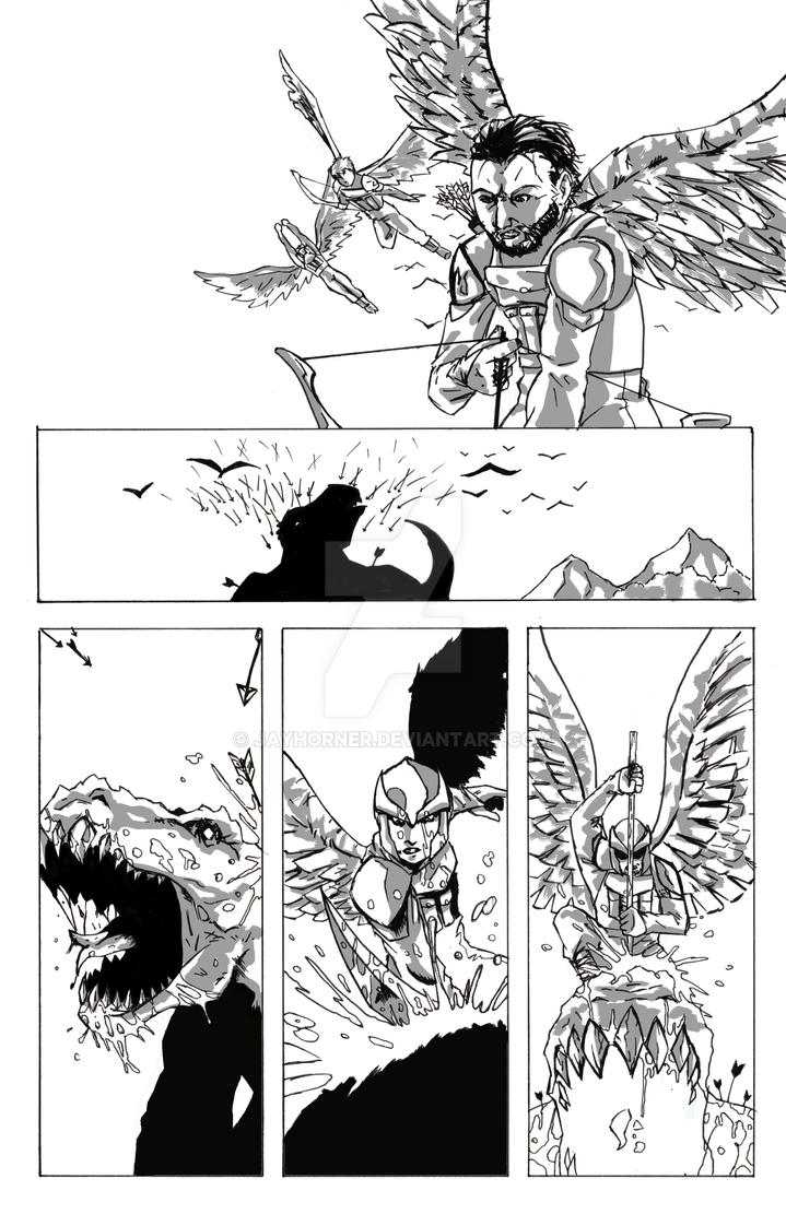 First Earth Issue 1 Page 6 inks by jayderange