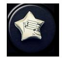 Musical Star Pin Button ( Spilletta ) by Usagichan-odango