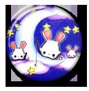 Tsuki Usagi Pin Button ( Spilletta ) by Usagichan-odango