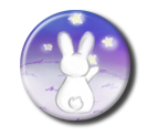 Rabbit and Stars Pin Button ( Spilletta ) by Usagichan-odango