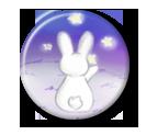 Rabbit and Stars Pin Button ( Spilletta ) by Usagichan-odango