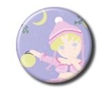 Usagi in Pink Pin Button ( Spilletta ) by Usagichan-odango