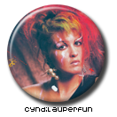 Cyndi Lauper Pin Button 2 ( Spilletta ) by Usagichan-odango