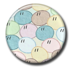 Dango Daikazoku Pin Button ( Spilletta ) by Usagichan-odango