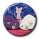 Luna, Artemis and Diana Pin Button ( Spilletta ) by Usagichan-odango