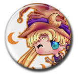 Halloween Usagi Pin Button ( Spilletta ) by Usagichan-odango