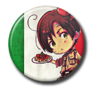Hetalia - Romano Pin Button ( Spilletta ) by Usagichan-odango
