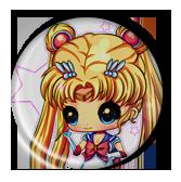 SailorMoon Chibi and cute Pin Button ( Spilletta ) by Usagichan-odango