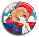 Card Captor Sakura-Sakura Pin Button ( Spilletta ) by Usagichan-odango