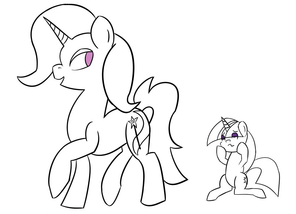 Atg6-2 Giant/Tiny pony by sehtkmet