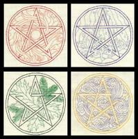 Elemental Pentacles by TalyrasMirror