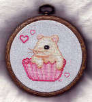 Hampster Cupcake Cross Stitch