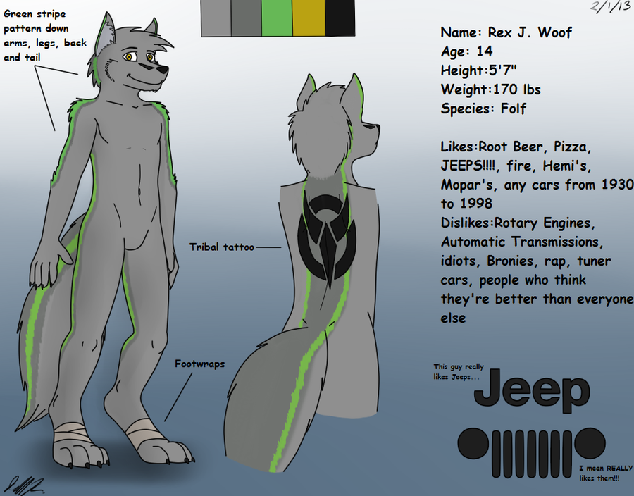 Rex Reference Page by JeffTheHusky