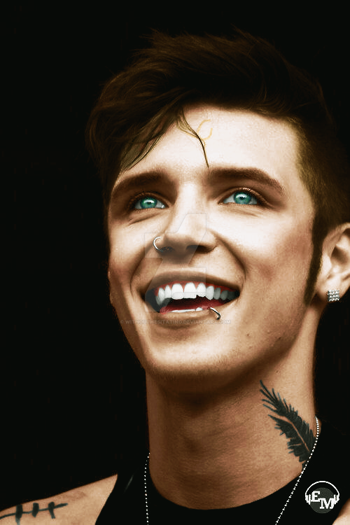 andy_biersack_colorization_by_withouthes