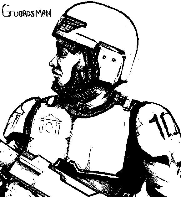 Imperial Guard Sketch by WafflerWeedie