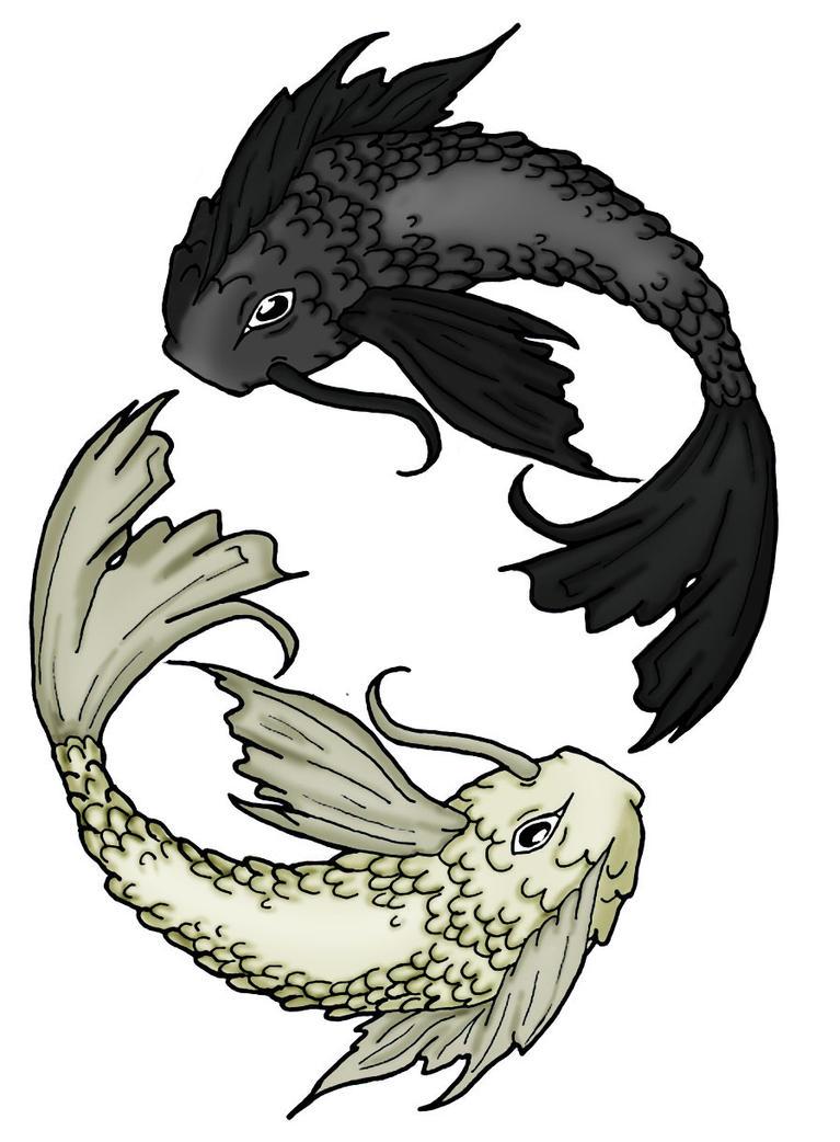 Koi fish tattoo design by bdaydesigns on deviantart for Koi fish pisces