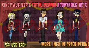 Total Drama Adoptable OC's (SOLD OUT)