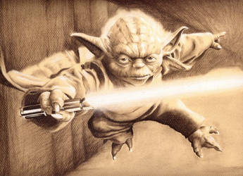 starwars yoda 2 by charcoalking77