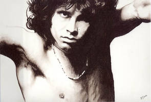 jim morrison the doors by charcoalking77
