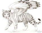 Winged White Tiger