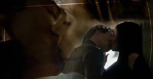 Delena kiss