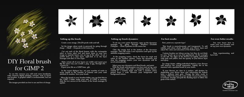 DIY Floral brush for GIMP 2 by Tinselfire